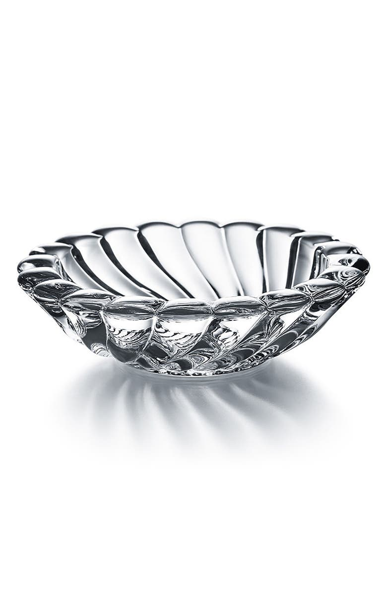 BACCARAT Volutes Lead Crystal Jewelry Bowl, Main, color, CLEAR