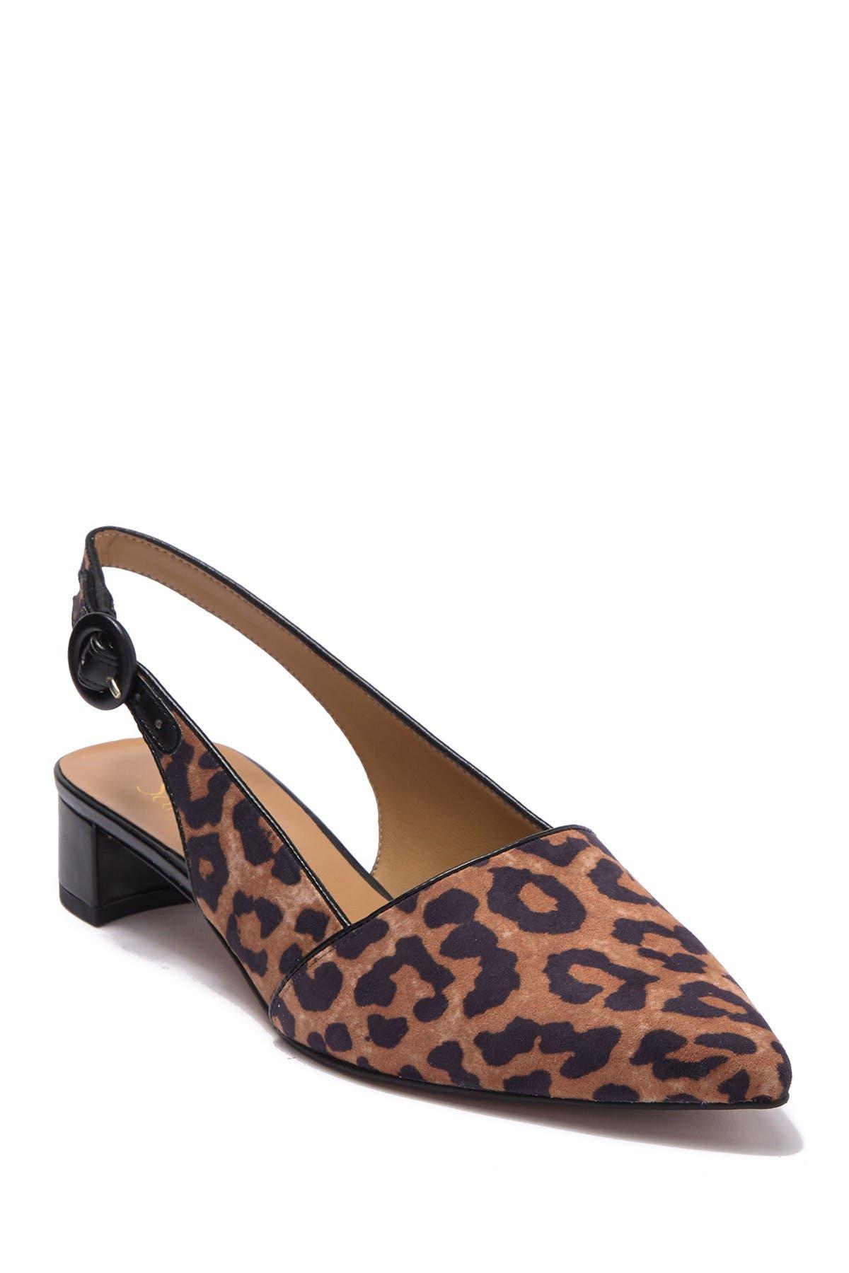 franco sarto leopard print shoes