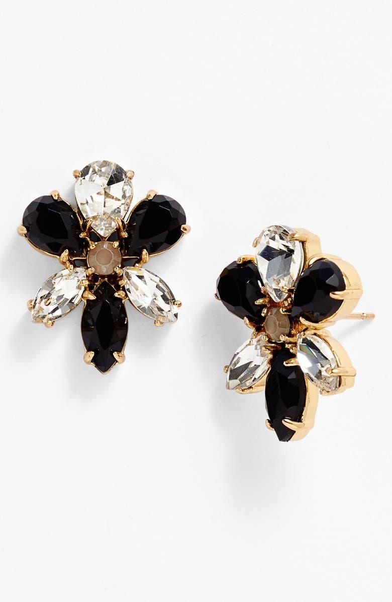KATE SPADE NEW YORK 'gardens of paris' oversize stud earrings, Main, color, SMOKE MULTI/ GOLD