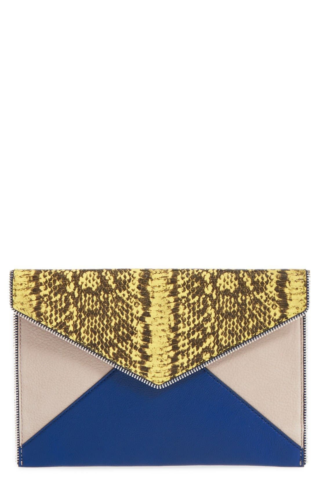 ,                             Leo Envelope Clutch,                             Main thumbnail 186, color,                             404