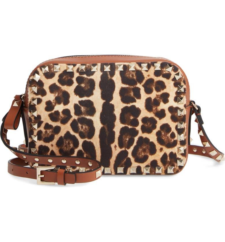VALENTINO GARAVANI Rockstud Crossbody Bag, Main, color, SELLERIA