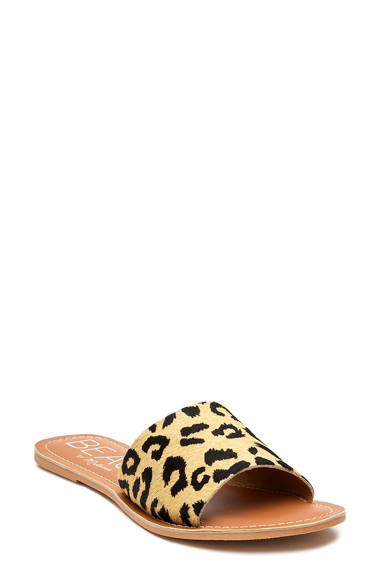 Women's Coconuts By Matisse Cabana Genuine Calf Hair Slide Sandal