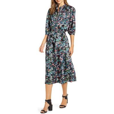 Rebecca Minkoff Tina Floral Midi Dress, Black