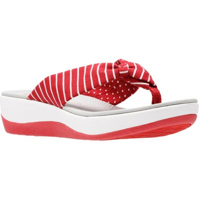 Clarks Arla Glison Flip Flop, Red