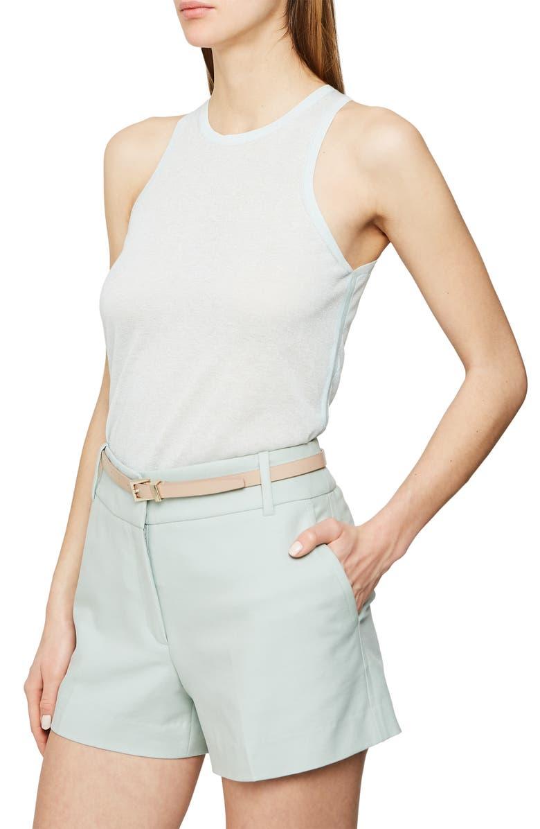 REISS Maude Keyhole Back Cotton & Wool Blend Tank Top, Main, color, 451