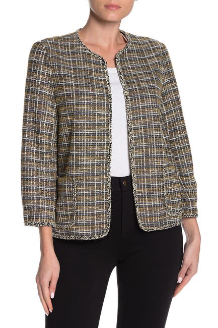 Image of Max Studio Boucle Knit Crop Jacket