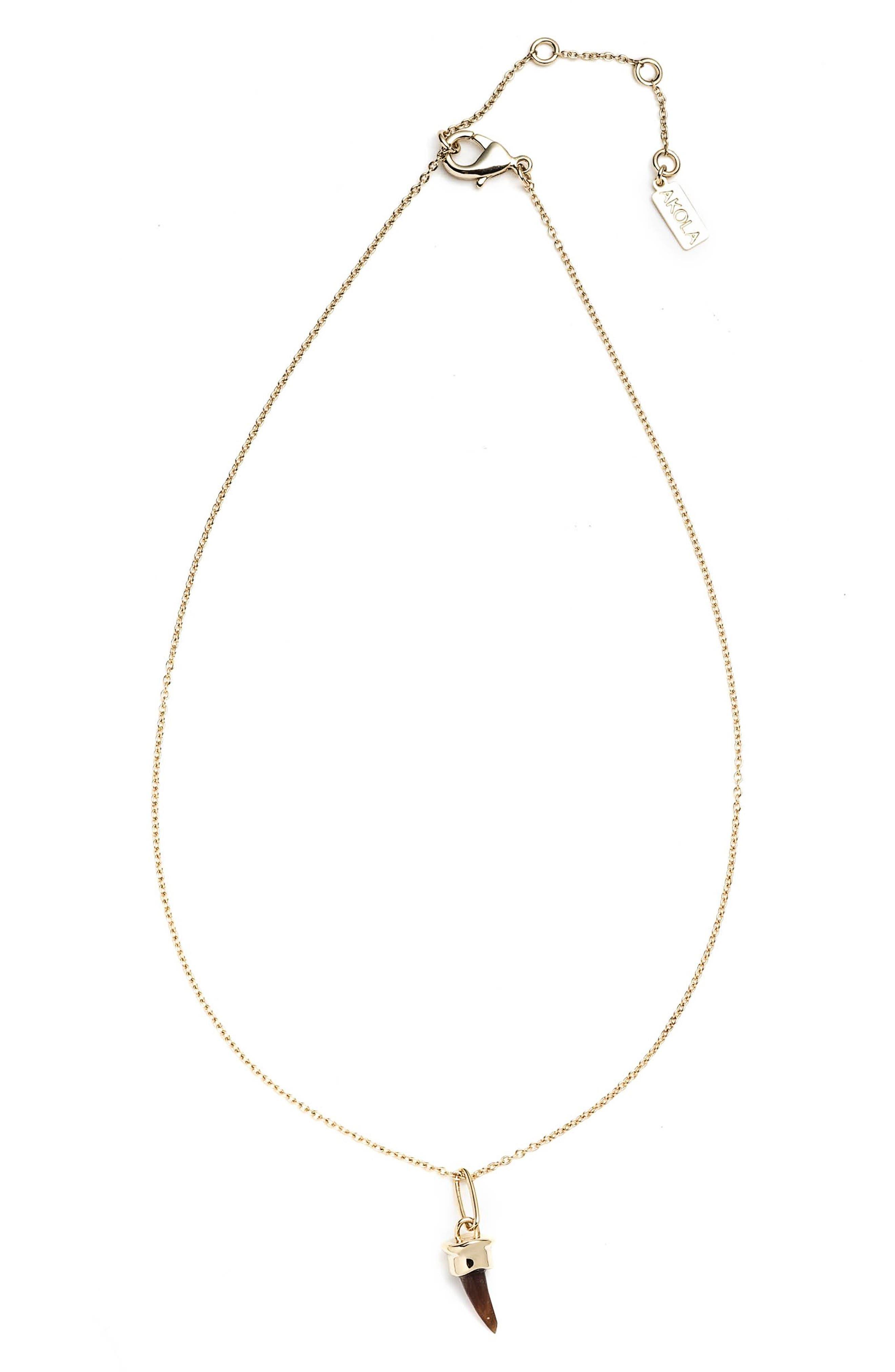 Blake Horn Pendant Necklace