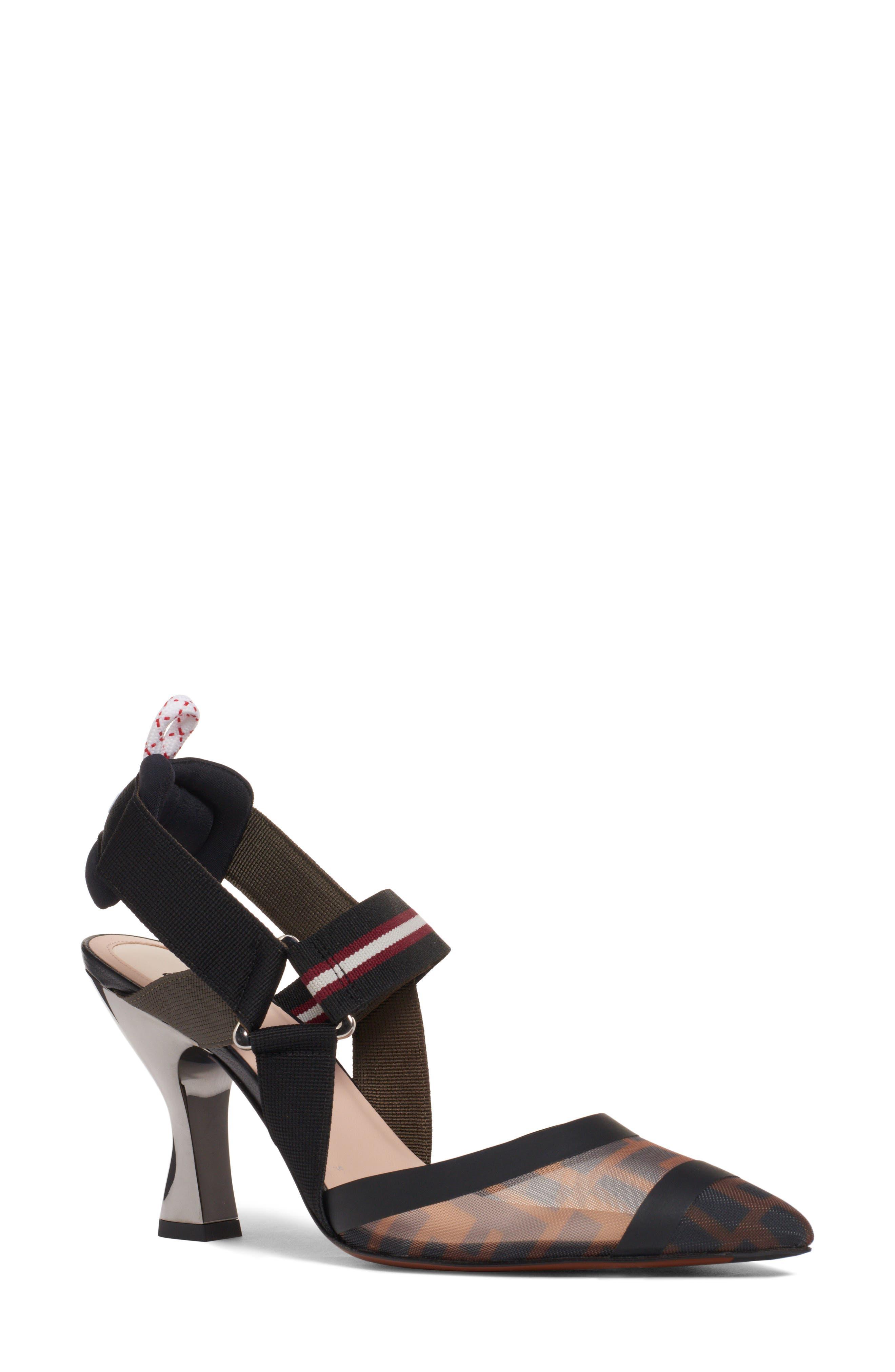 Fendi Colibri Slingback Pump - Black
