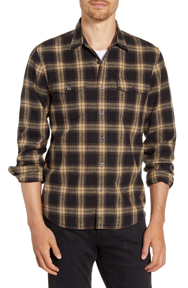 FRAME Classic Fit Double Flap Pocket Shirt, Main, color, DENVER MULTI