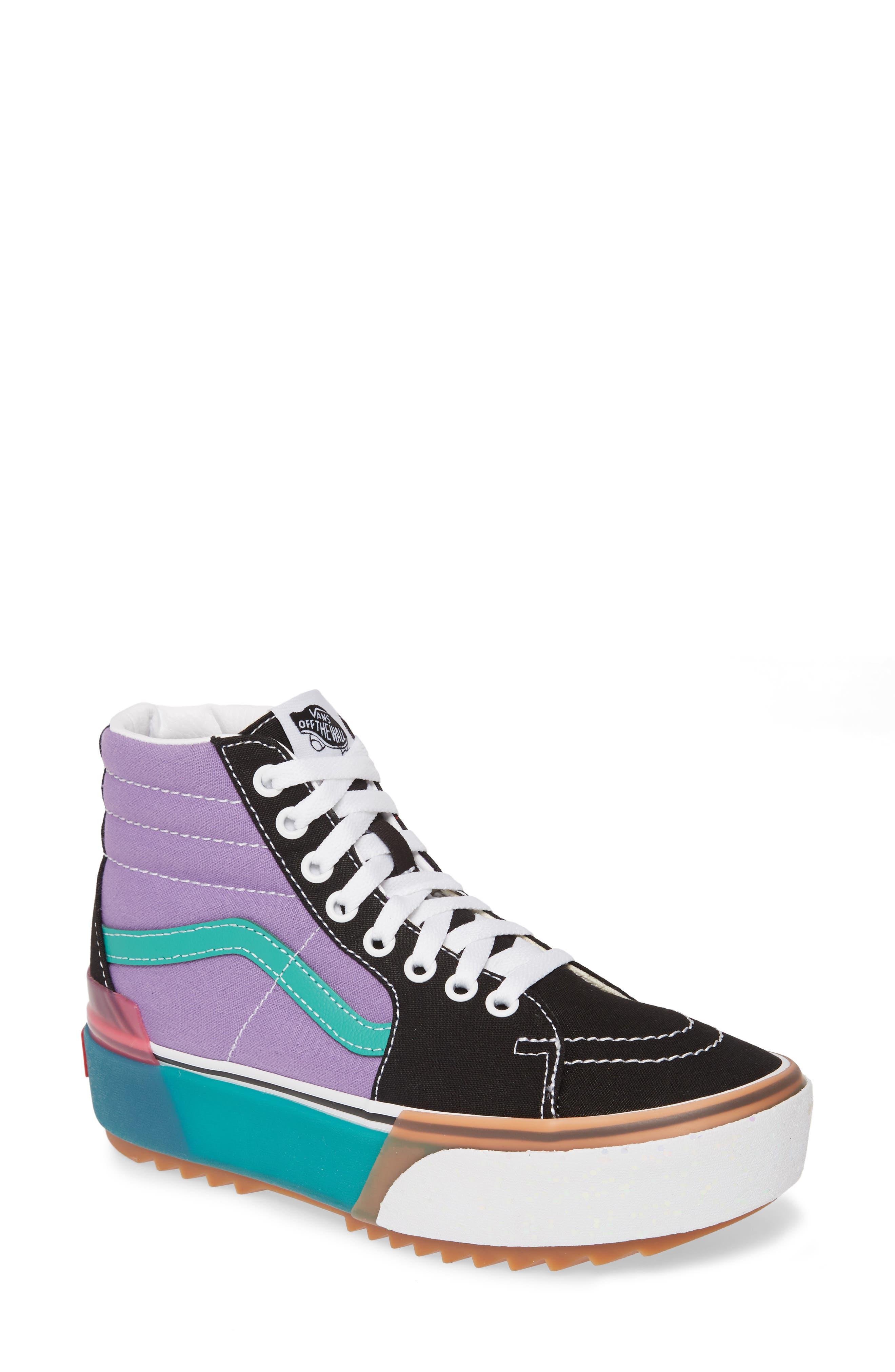 Vans Era Sk8-Hi Stacked Platform Sneaker, Purple