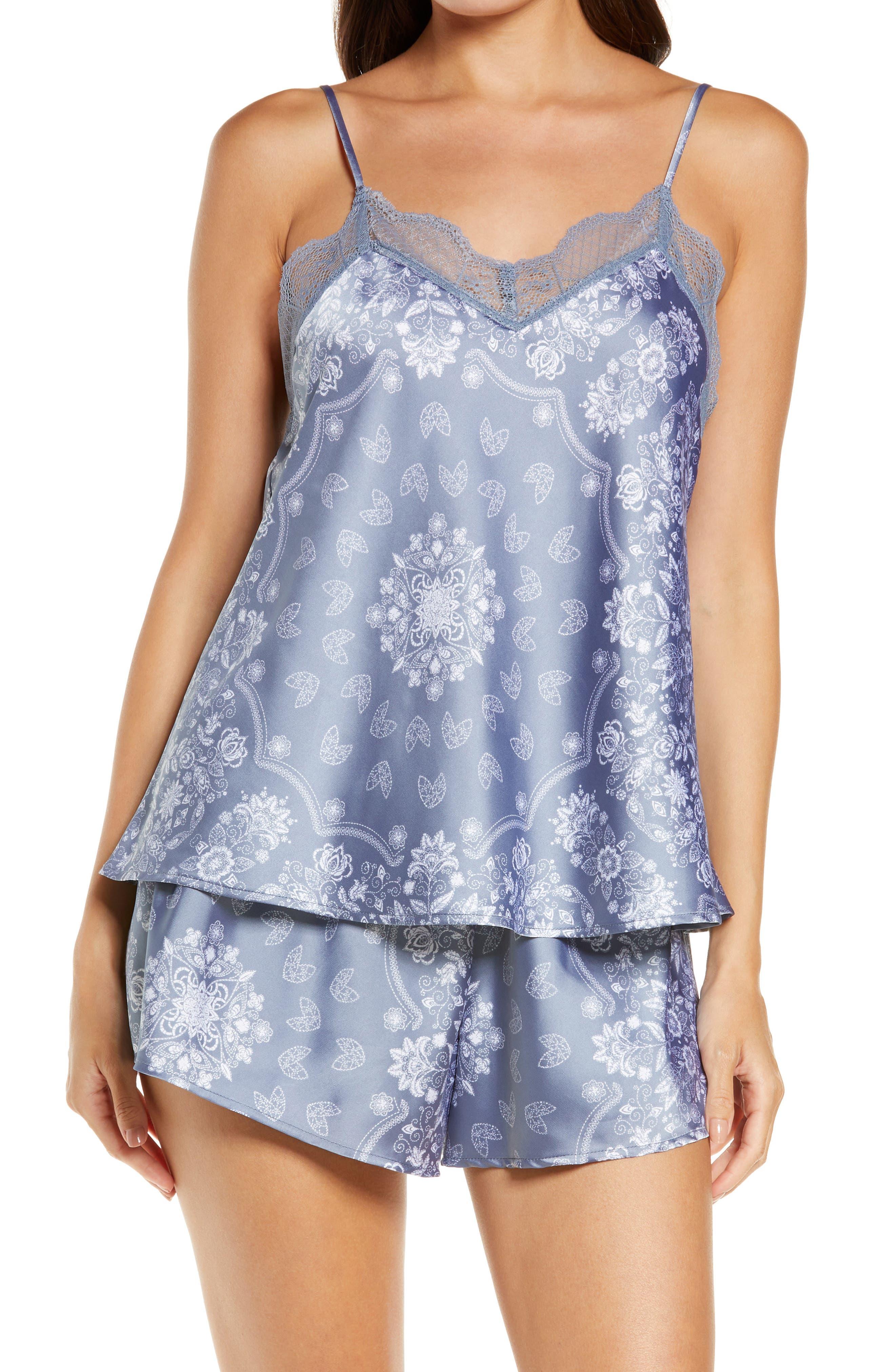 Women's Honeydew Keep It Cool Satin Shortie Pajamas