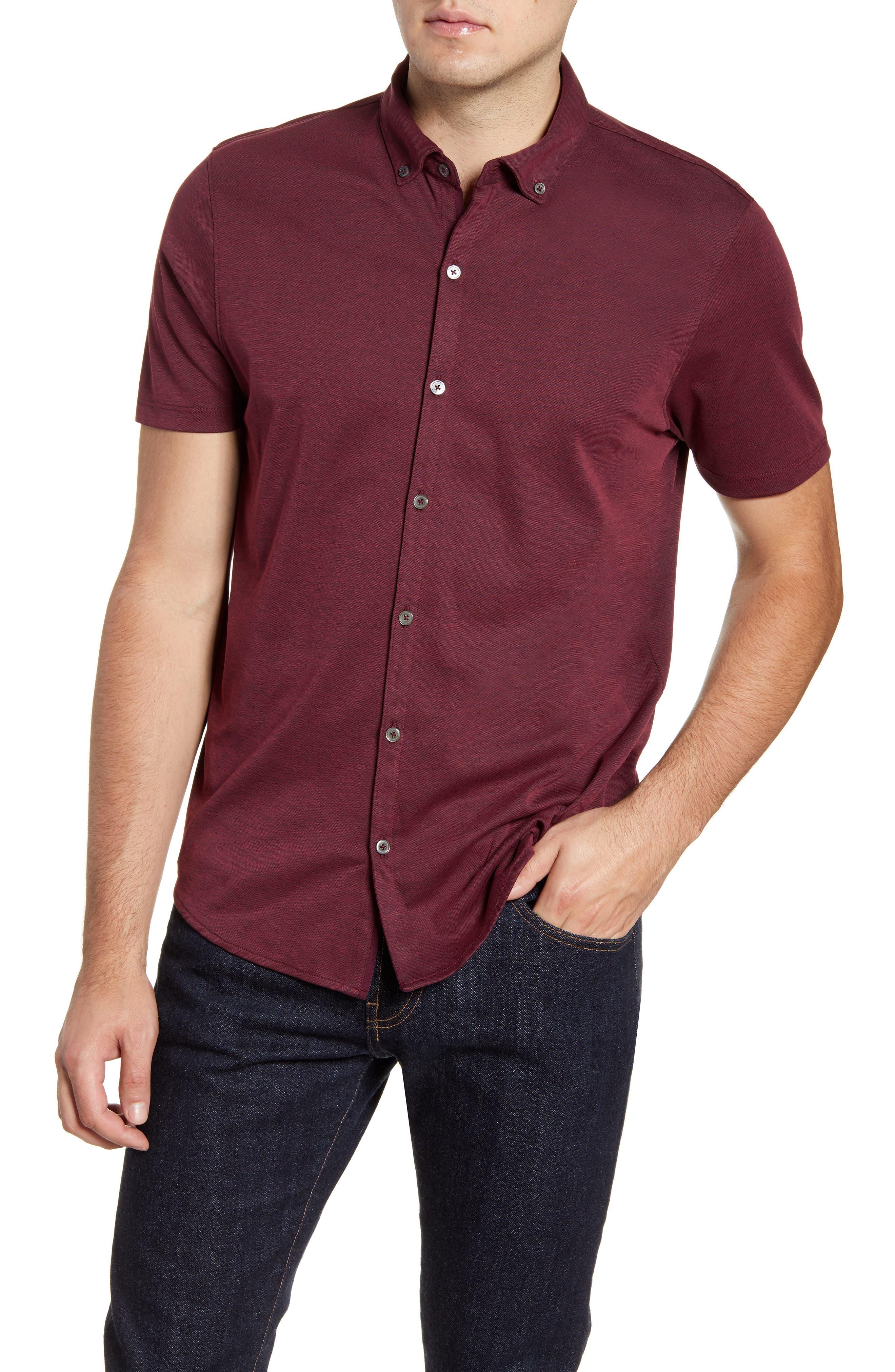 ,                             Caruth Regular Fit Short Sleeve Sport Shirt,                             Main thumbnail 36, color,                             930
