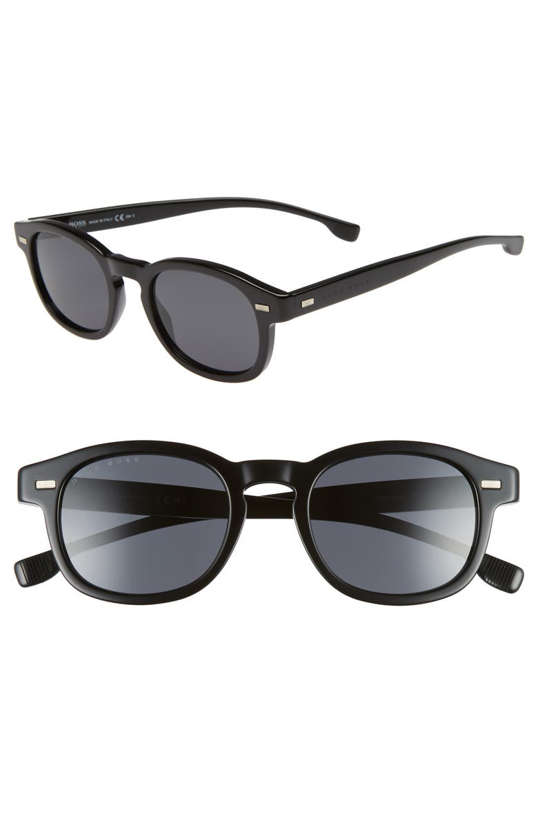 BOSS 49mm Sunglasses, Main, color, BLACK