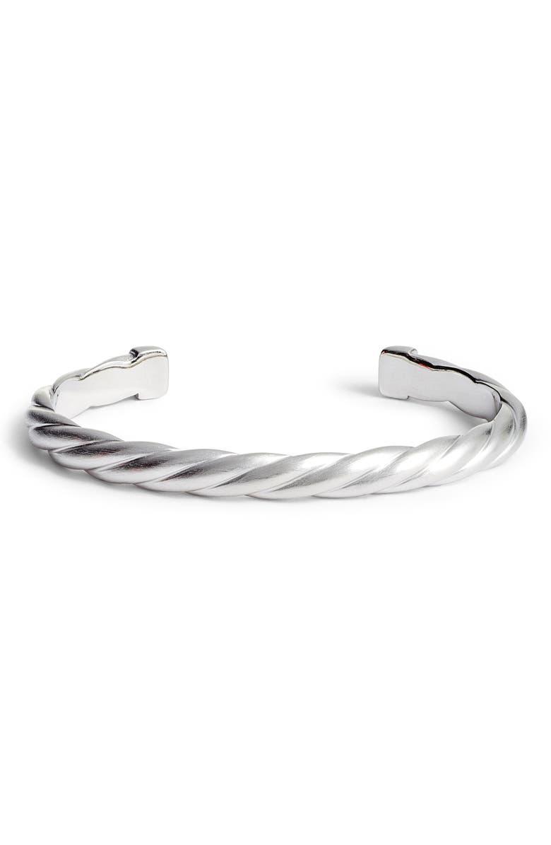 DEAN DAVIDSON Rope Texture Cuff Bracelet, Main, color, SILVER