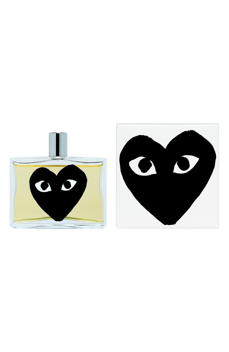 COMME DES GARÇONS PLAY Black Eau de Parfum, Main, color, BLACK