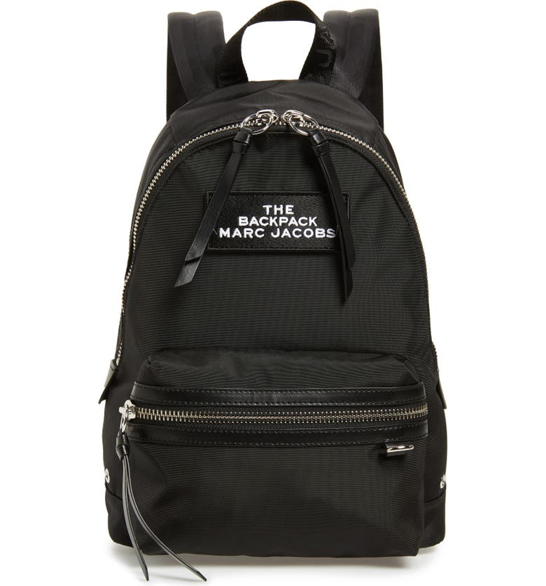 THE MARC JACOBS The Medium Backpack, Main, color, BLACK