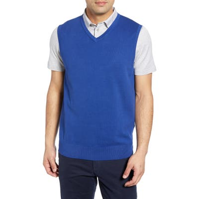 Cutter & Buck Lakemont V-Neck Sweater Vest, Blue