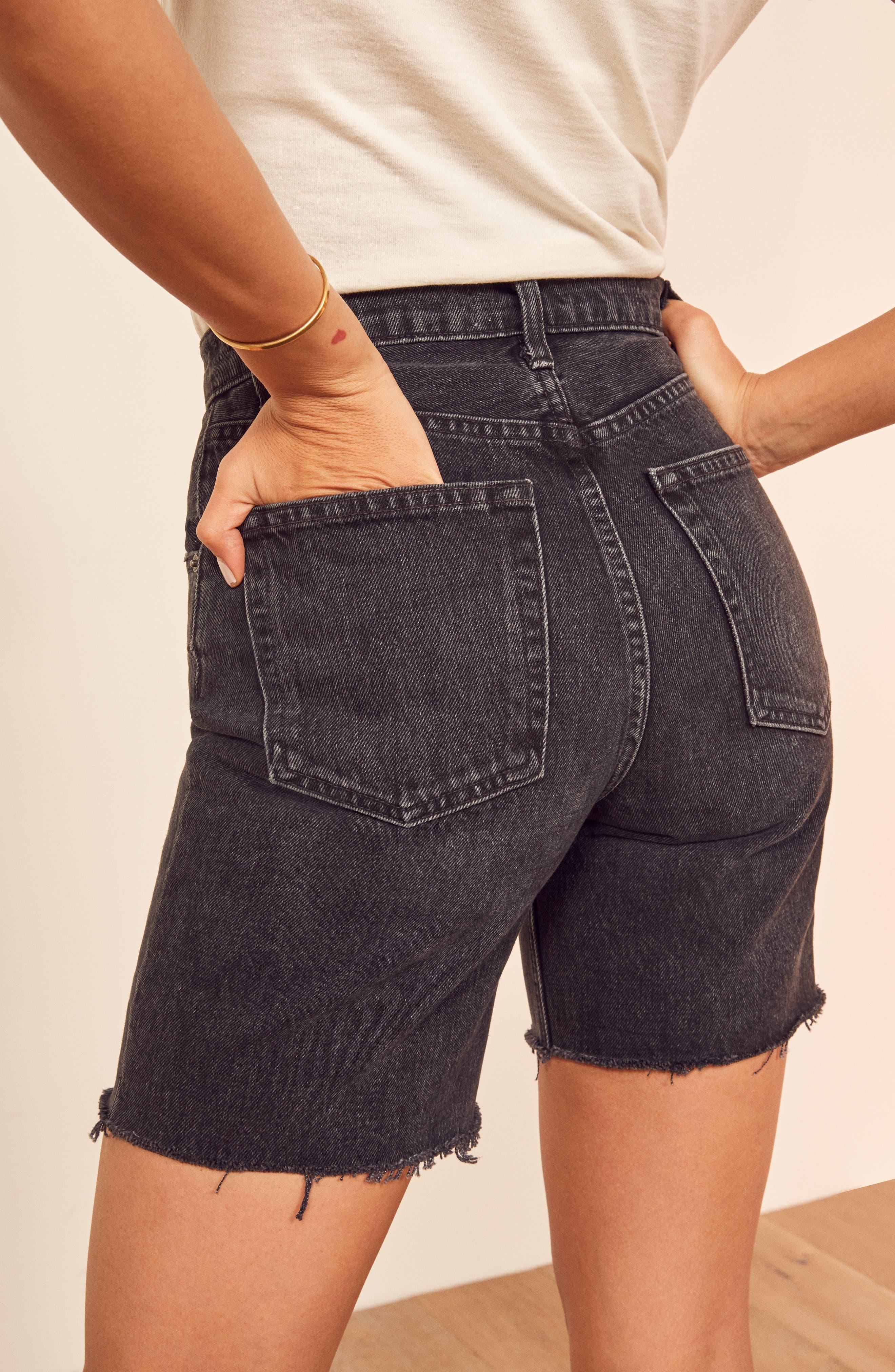 ,                             Allie Cutoff Denim Shorts,                             Alternate thumbnail 4, color,                             PACIFIC