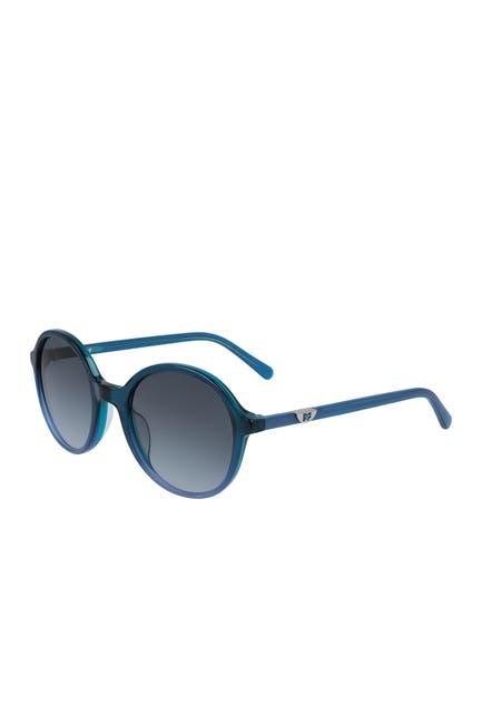 Image of Diane von Furstenberg 51mm Maciee Round Sunglasses
