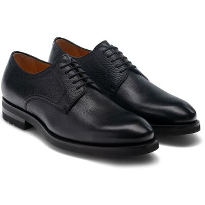 Magnanni Melich Ii Plain Toe Derby, Black