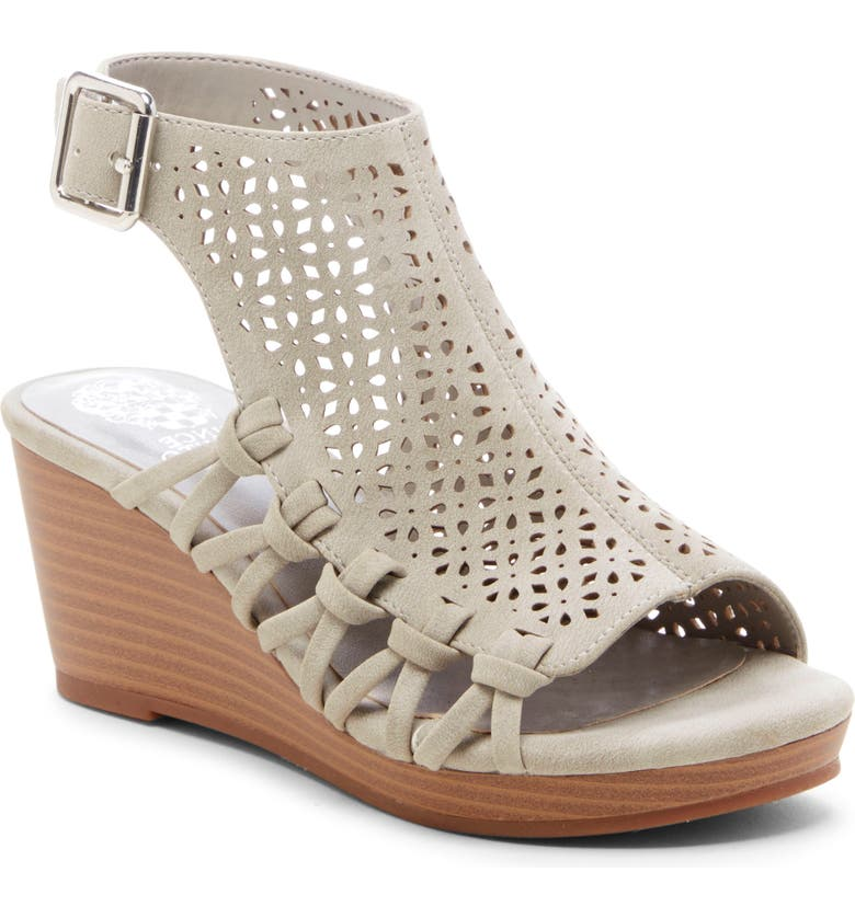 VINCE CAMUTO Obal Wedge, Main, color, SEAL GREY