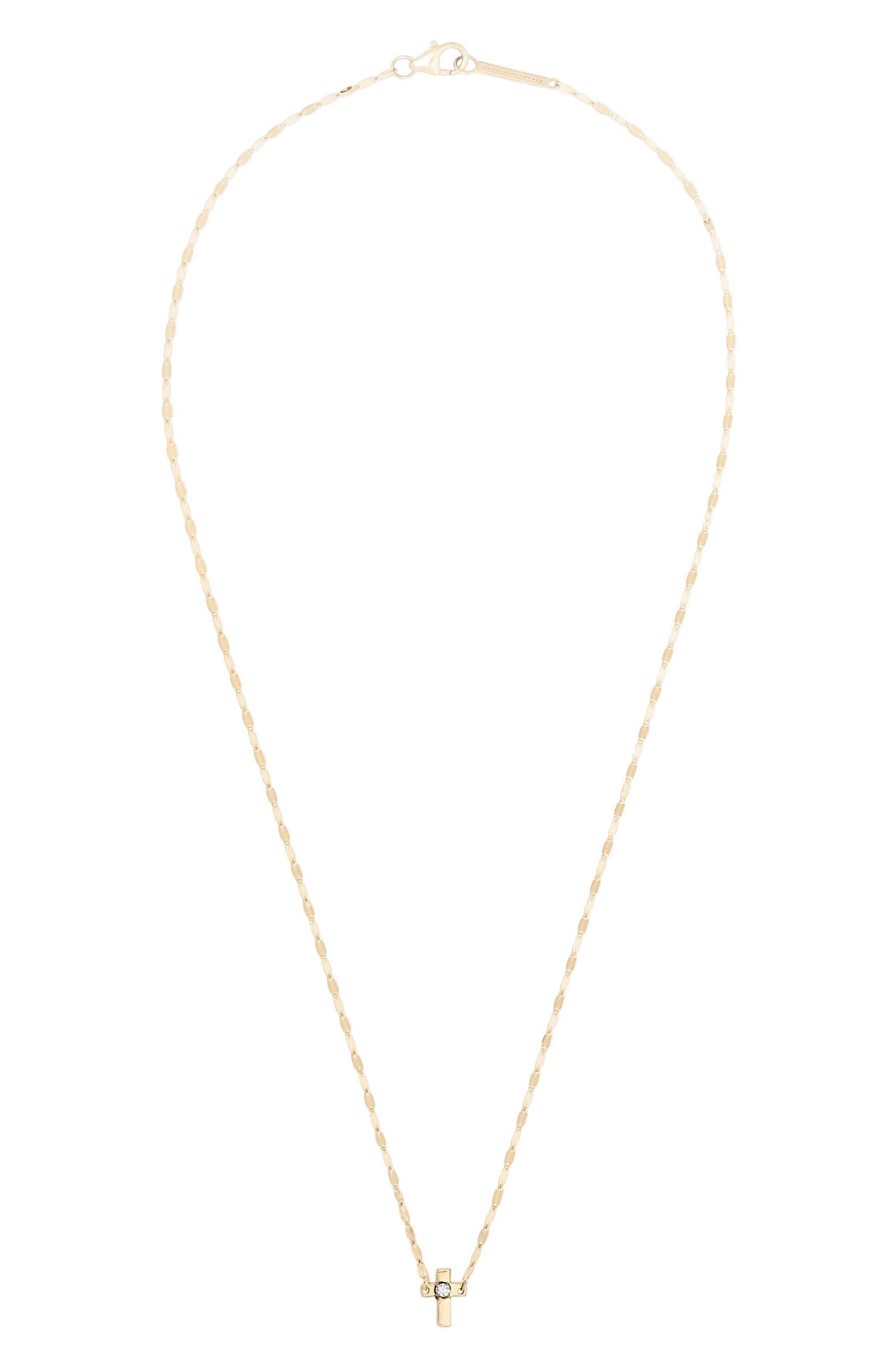 Solo Mini Cross Pendant Necklace