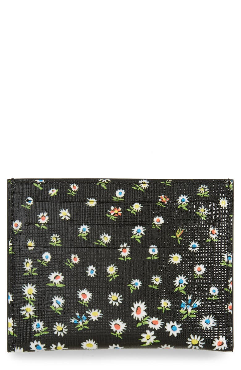 GIVENCHY Iconic Prints Card Case, Main, color, BLACK MULTI