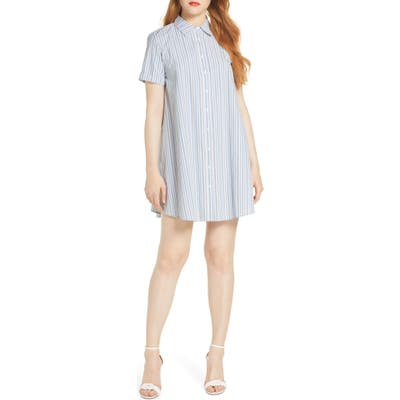 Bb Dakota Stripe A Personality Shirtdress, Blue