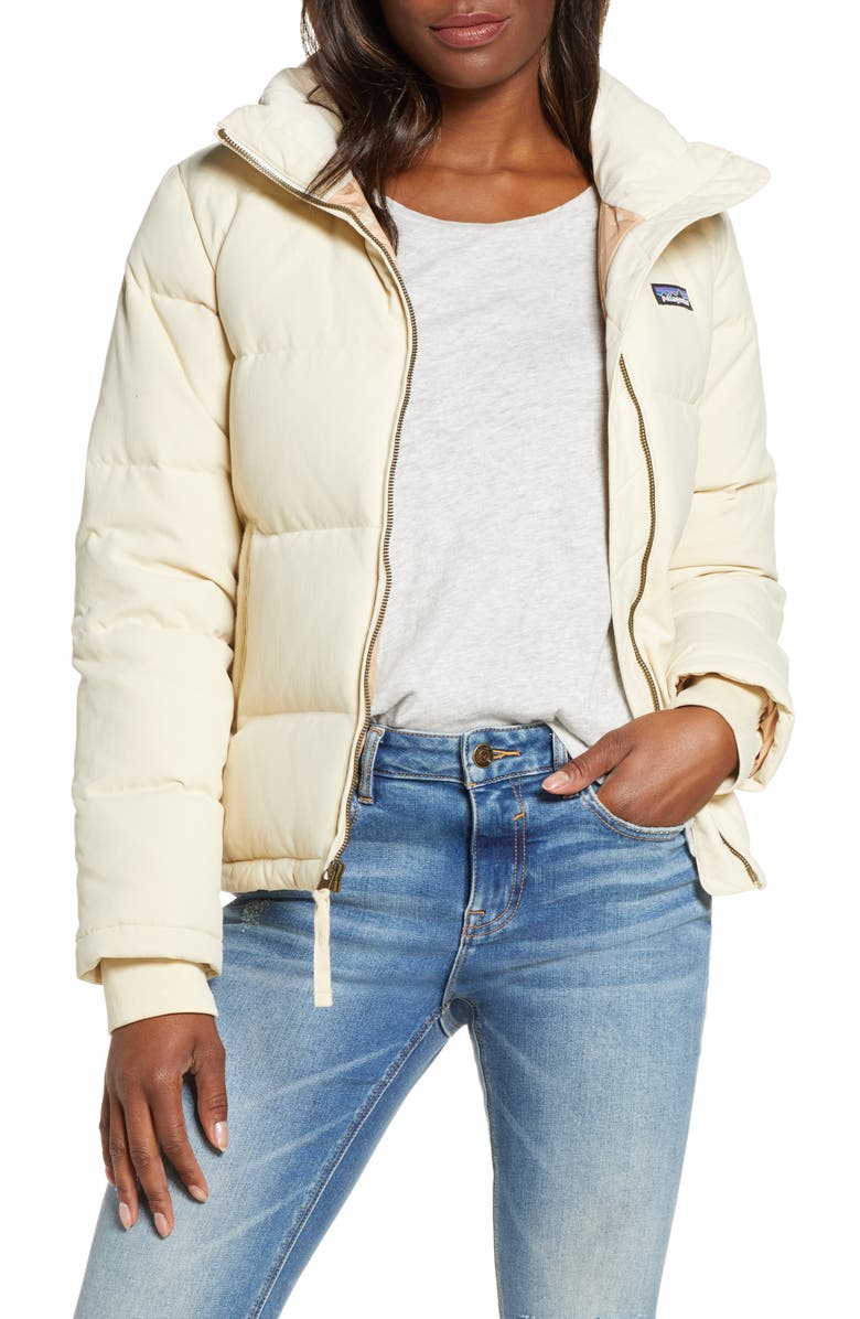 PATAGONIA Bivy 600 Fill Power Down Jacket, Main, color, OYWH OYSTER WHITE