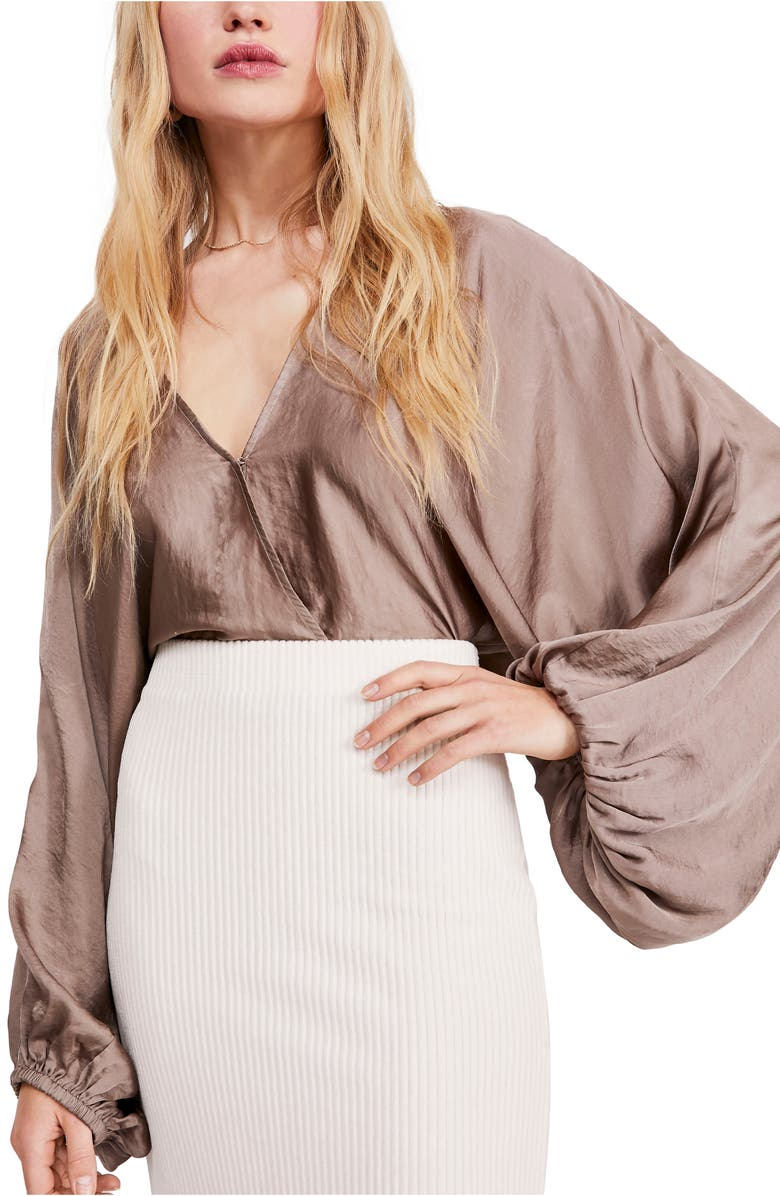 Midnight Vibes Satin Blouse by Free People