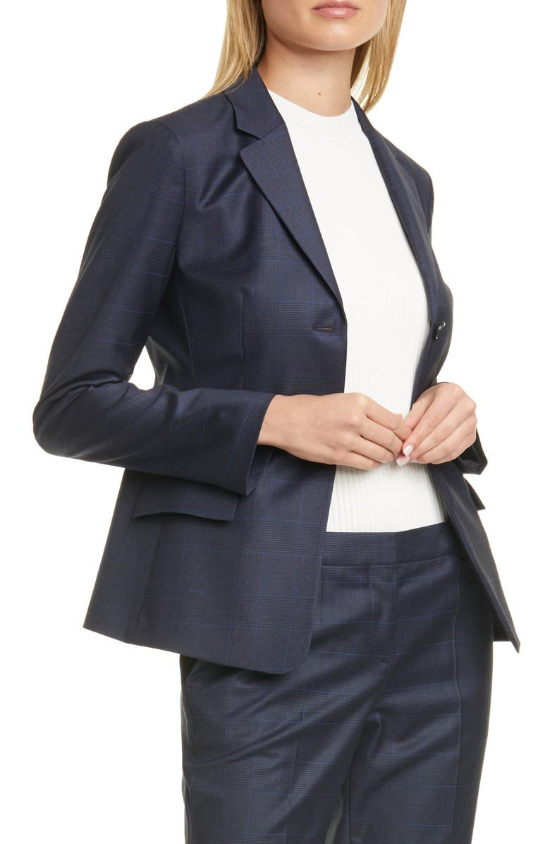 BOSS Jatinda Glen Check Wool Suit Jacket, Main, color, 400