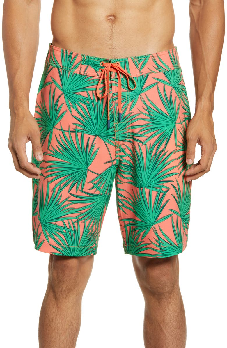 SOUTHERN TIDE Sea Breeze Board Shorts, Main, color, MANGO