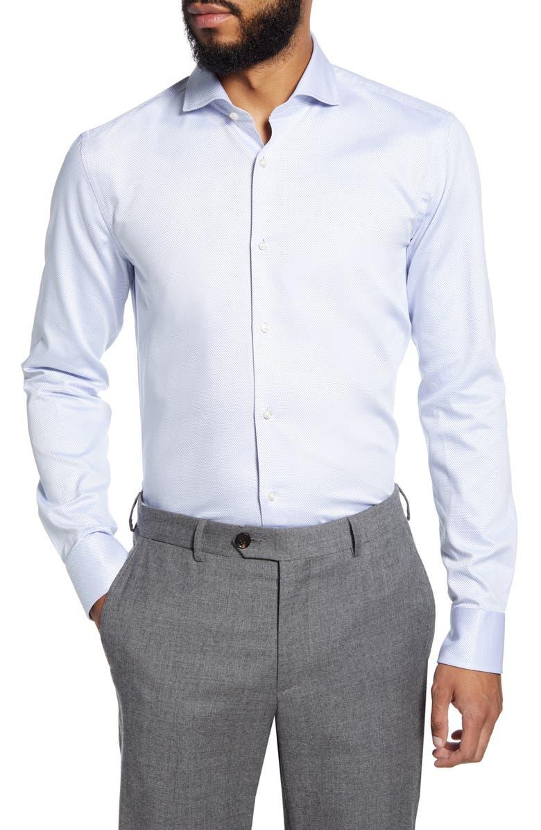 BOSS Slim Fit Dress Shirt, Main, color, BLUE