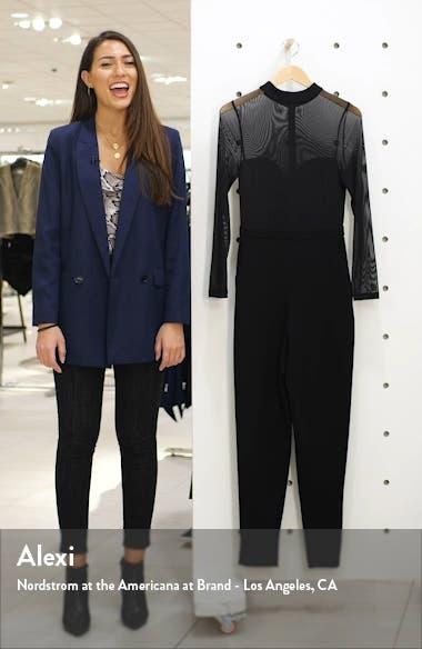 Long Sleeve Mesh & Jersey Jumpsuit, sales video thumbnail