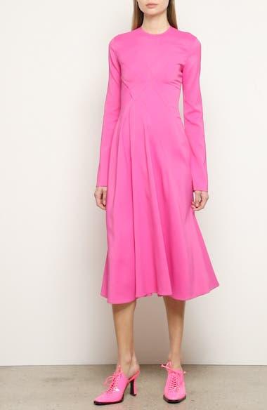 Crisscross Detail Long Sleeve Midi Dress, video thumbnail