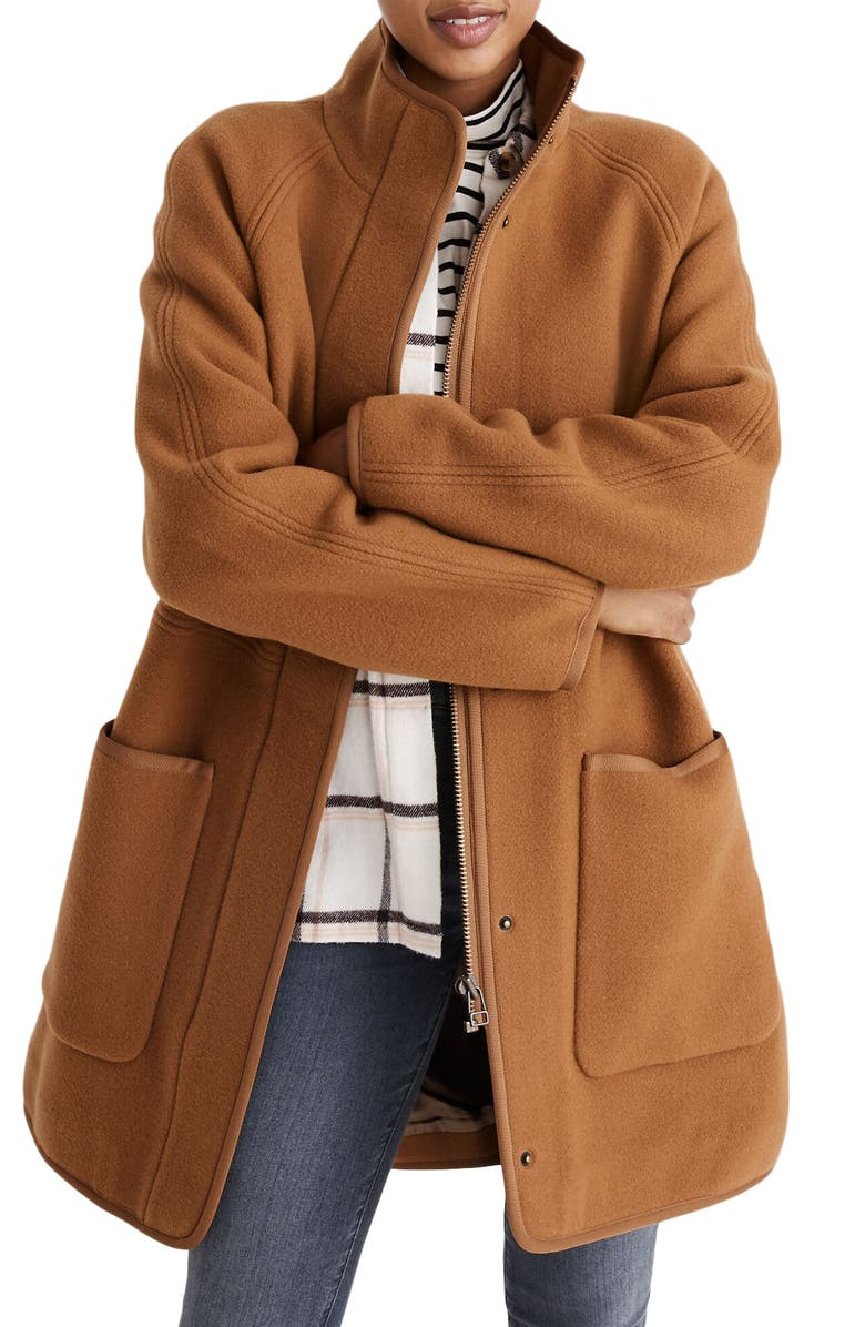 MADEWELL Estate Cocoon Coat, Main, color, 200