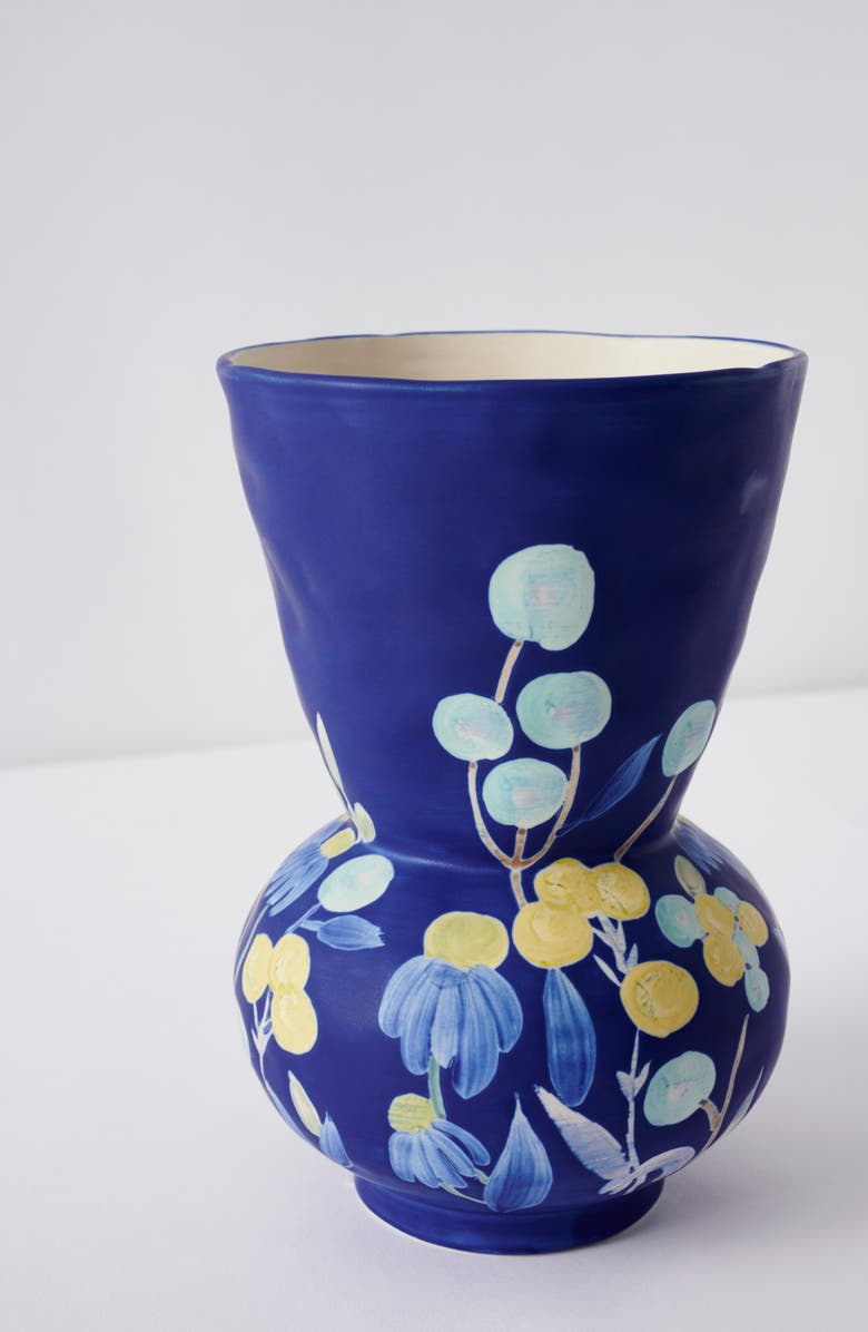 ANTHROPOLOGIE HOME Carmo Medium Vase, Main, color, BLUE
