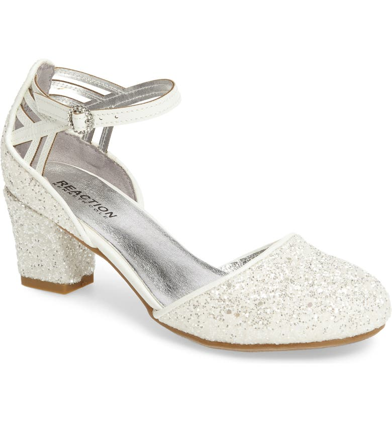 REACTION KENNETH COLE Kenneth Cole New York Sarah Shine Pump, Main, color, WHITE