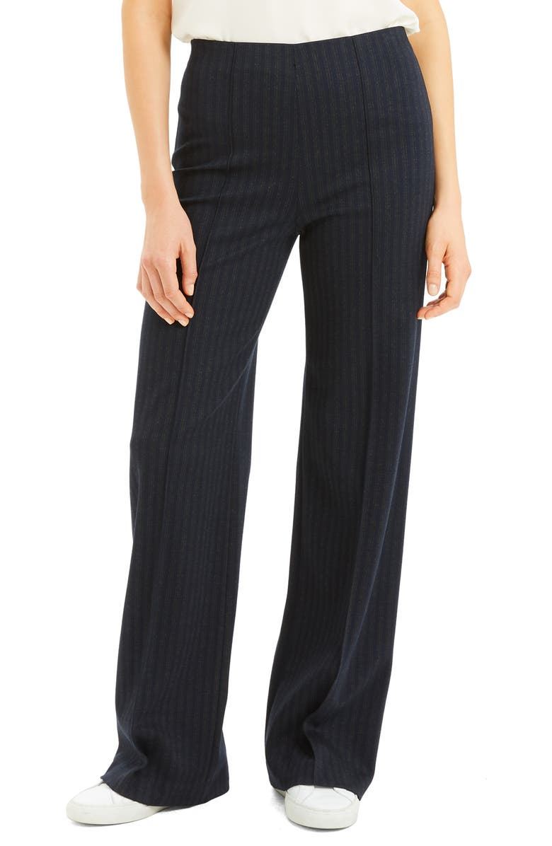 THEORY Stripe Seamed Wide Leg Trousers, Main, color, MULTI