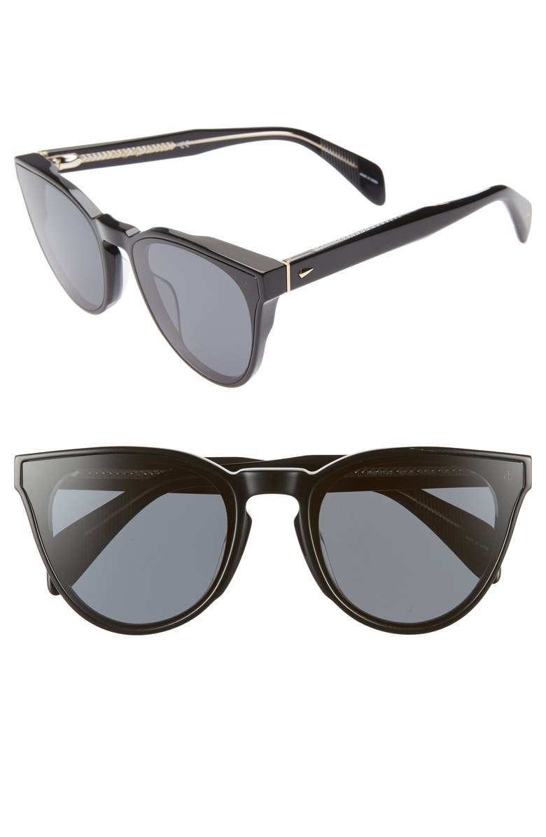 RAG & BONE 61mm Cat Eye Sunglasses, Main, color, 001