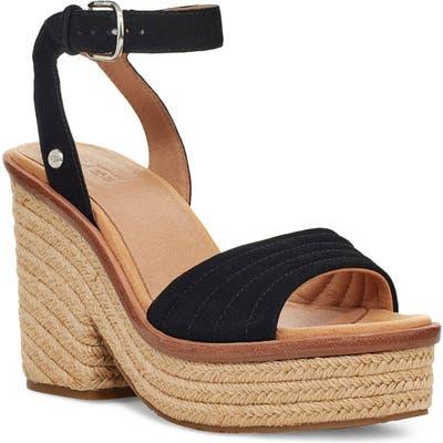 UGG Laynce Ankle Strap Platform Sandal, Black