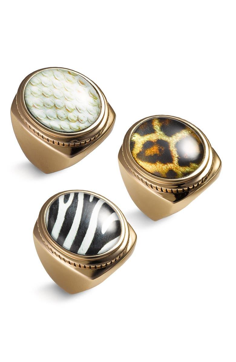 BARSE Animal Print Ring, Main, color, 001