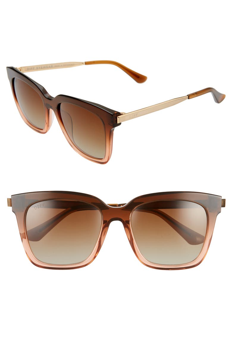 DIFF Bella 54mm Polarized Sunglasses, Main, color, 200