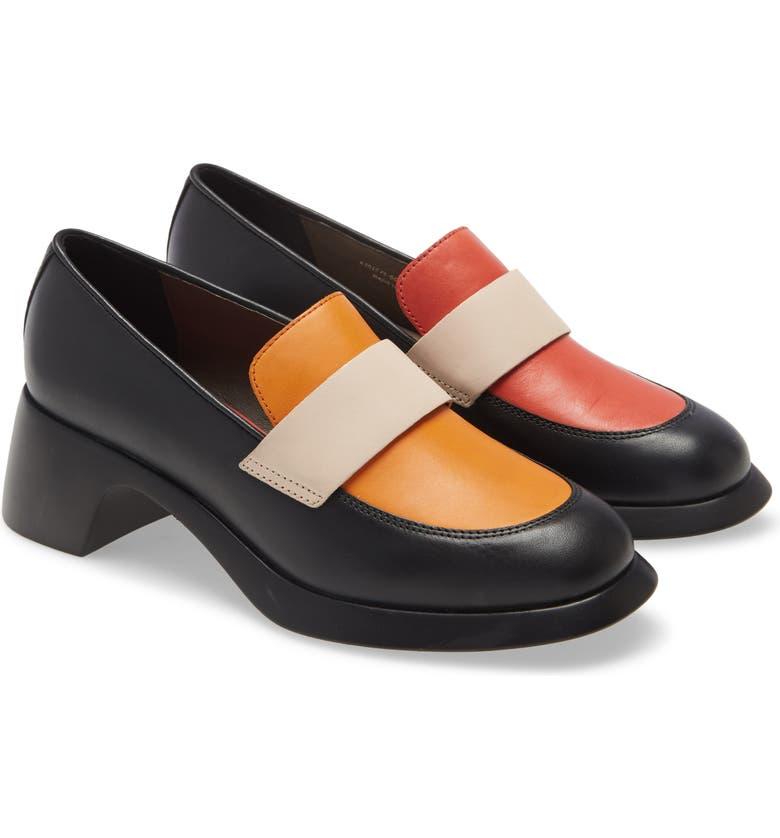 CAMPER Twins Mismatched Loafer, Main, color, MULTICOLOR LEATHER
