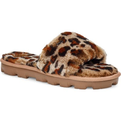 Ugg Cozette Genuine Shearling Slide, Brown