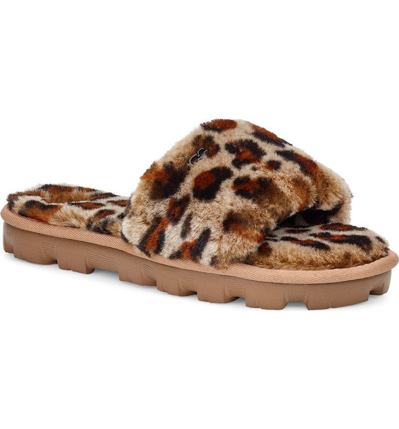 UGG<SUP>®</SUP> Cozette Genuine Shearling Slide, Main, color, AMPHORA