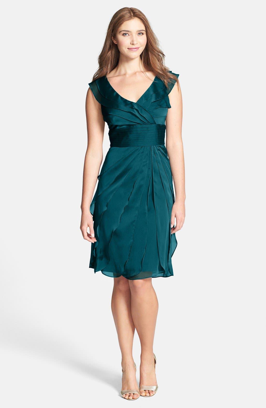 ,                             Tiered Chiffon Dress,                             Main thumbnail 27, color,                             441
