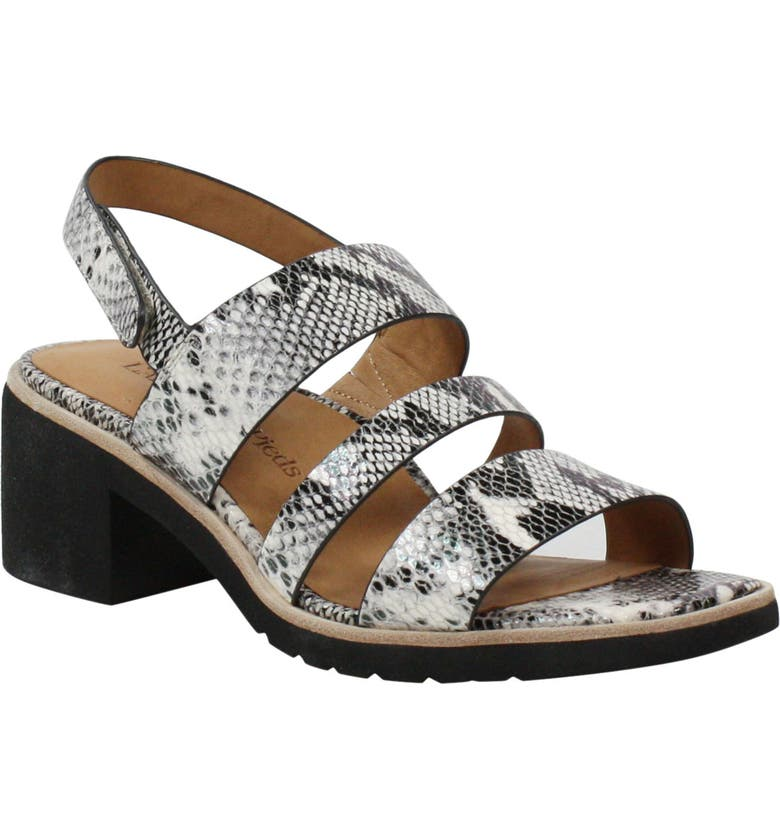 L'AMOUR DES PIEDS Quennell Slingback Sandal, Main, color, SNAKE PRINT LEATHER