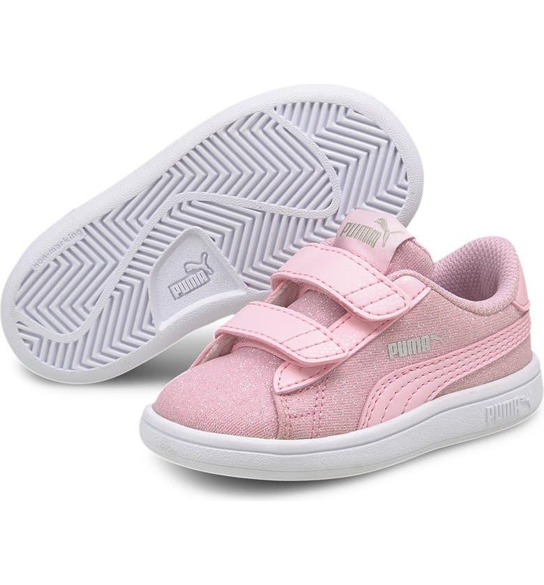 PUMA Smash V2 Glitz Glam V Sneaker, Main, color, PINK LADY-PINK LADY