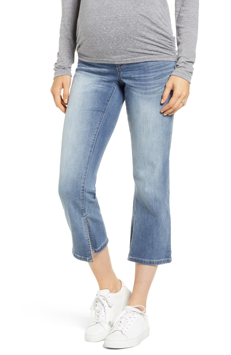 1822 DENIM Slit Cuff Bootcut Maternity Jeans, Main, color, SYLVIA